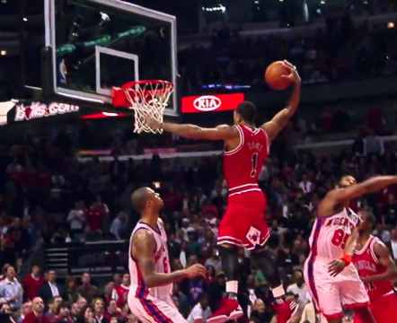 Derrick Rose Vertical Leap 1