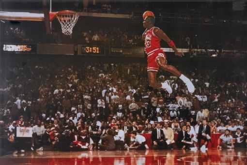 Michael Jordan Free Throw Dunk